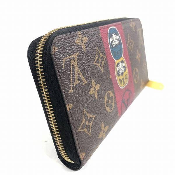 LOUIS VUITTON/ルイヴィトン ラウンドファスナー 財布 ジュピーウォレット M67258 モノグラム 側面の写真