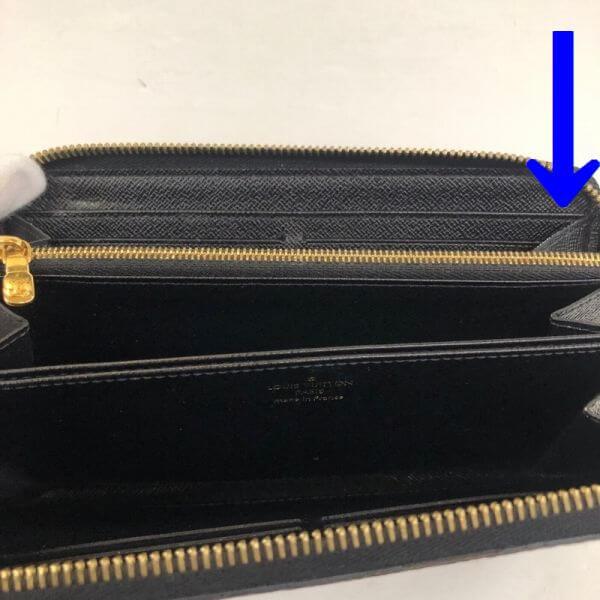 LOUIS VUITTON/ルイヴィトン ラウンドファスナー 財布 ジュピーウォレット M67258 モノグラム シリアルの場所(引きの画像)