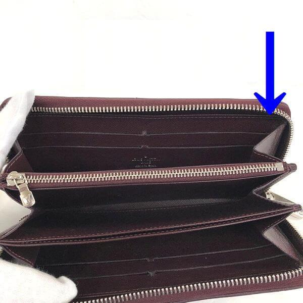 LOUIS VUITTON/ルイヴィトン ラウンドファスナー 財布 エレクトリック ジッピーウォレット M60314 エピ シリアルの場所(引きの画像)