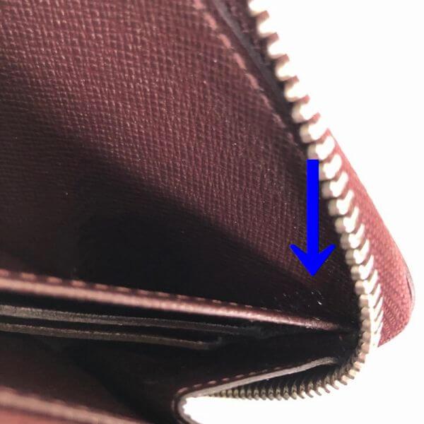 LOUIS VUITTON/ルイヴィトン ラウンドファスナー 財布 エレクトリック ジッピーウォレット M60314 エピ シリアルの場所(寄りの画像)