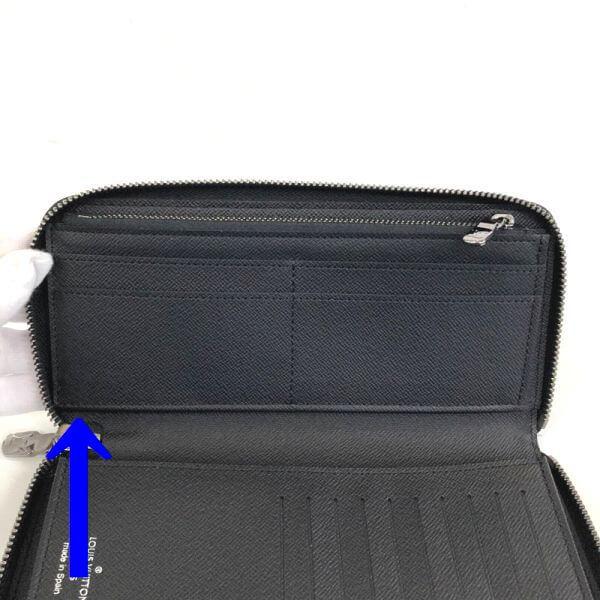 LOUIS VUITTON/ルイヴィトン ラウンドファスナー 財布 ジッピーウォレット ヴェルティカル M62295 モノグラム シリアルの場所(引きの画像)