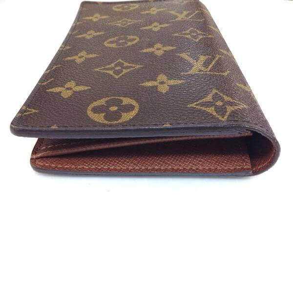 LOUIS VUITTON/ルイヴィトン 2つ折り 財布 ポルトフォイユ・ブラザ M66540 モノグラム 側面の写真