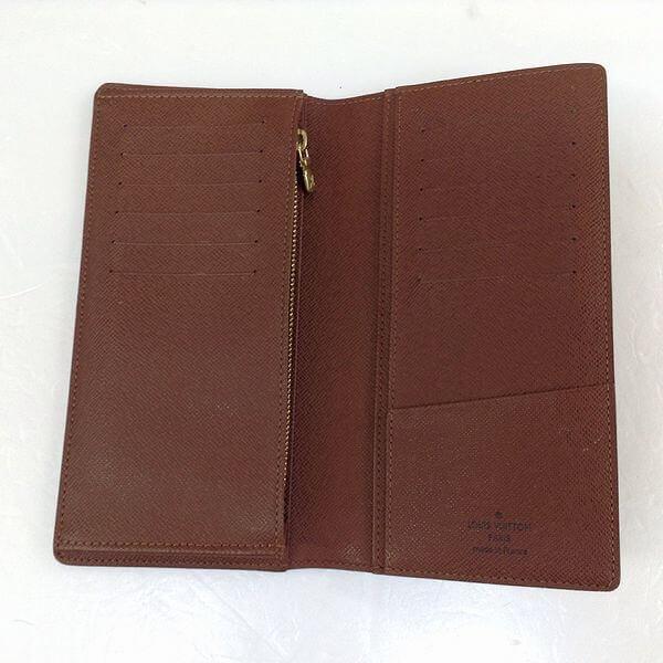 LOUIS VUITTON/ルイヴィトン 2つ折り 財布 ポルトフォイユ・ブラザ M66540 モノグラム 中身または上からの写真