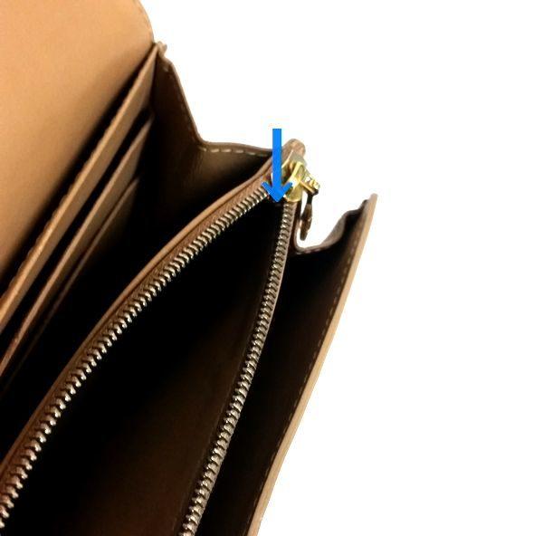 LOUIS VUITTON/ルイヴィトン ホック式 財布 ポルトフォイユ・サラ M91522 ヴェルニ シリアルの場所(寄りの画像)