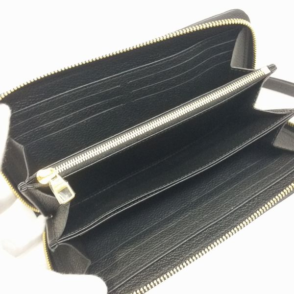 LOUIS VUITTON/ルイヴィトン ラウンドファスナー 財布 ジッピーウォレット M61864 モノグラム アンプラント 中身または上からの写真