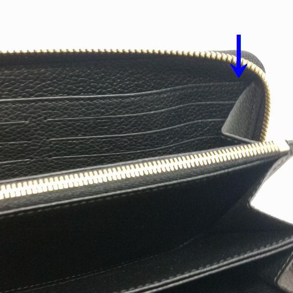 LOUIS VUITTON/ルイヴィトン ラウンドファスナー 財布 ジッピーウォレット M61864 モノグラム アンプラント シリアルの場所(引きの画像)