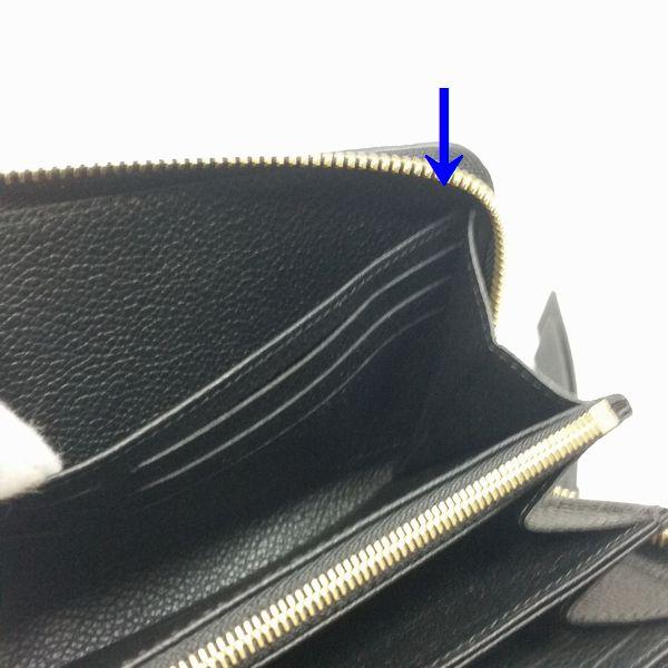 LOUIS VUITTON/ルイヴィトン ラウンドファスナー 財布 ジッピーウォレット M61864 モノグラム アンプラント シリアルの場所(寄りの画像)