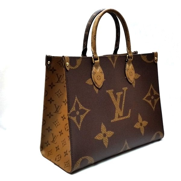 LOUIS VUITTON/ルイヴィトン 2wayバッグ オンザゴー MM M45321 モノグラム 側面の写真