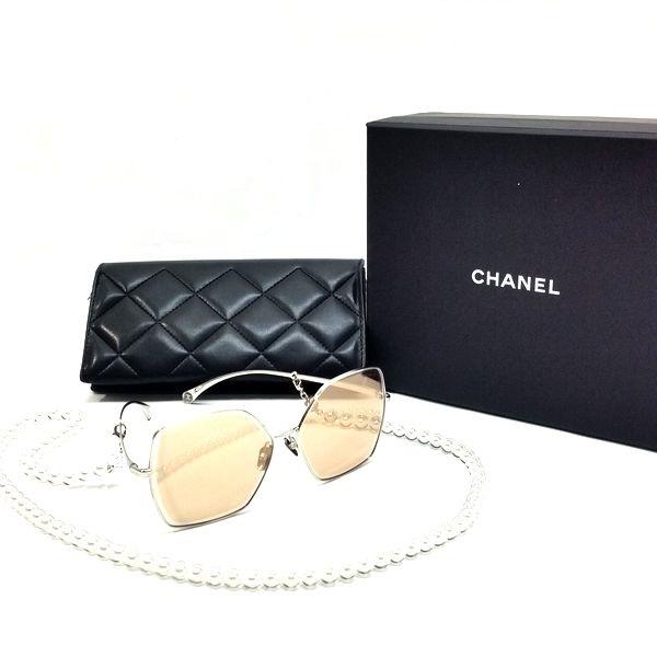 CHANEL/シャネル サングラス バタフライ シェイプ アイウェア 4262 A71364 X06063 L2458, 4262 C124/EH  全体の写真