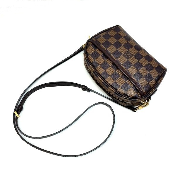 LOUIS VUITTON/ルイヴィトン 袈裟がけ・SDポーチ ポシェット・イパネマ N51296 ダミエ 側面の写真