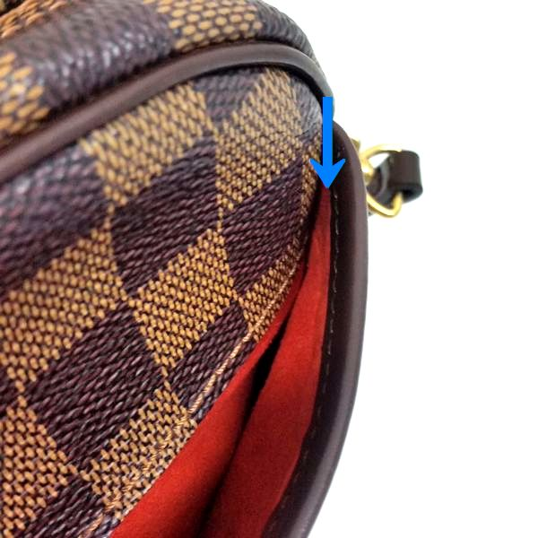 LOUIS VUITTON/ルイヴィトン 袈裟がけ・SDポーチ ポシェット・イパネマ N51296 ダミエ シリアルの場所(寄りの画像)