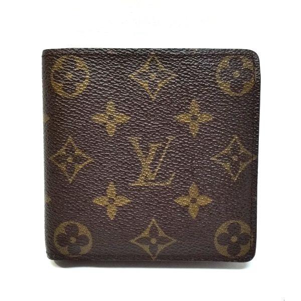 LOUIS VUITTON/ルイヴィトン 2つ折り 財布 ポルトフォイユ・マルコ M61675 モノグラム 全体の写真