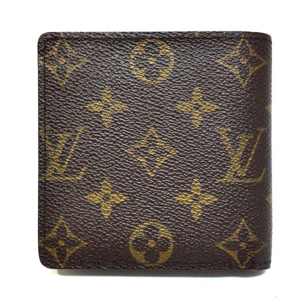 LOUIS VUITTON/ルイヴィトン 2つ折り 財布 ポルトフォイユ・マルコ M61675 モノグラム 裏側の写真
