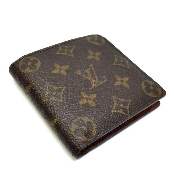 LOUIS VUITTON/ルイヴィトン 2つ折り 財布 ポルトフォイユ・マルコ M61675 モノグラム 側面の写真