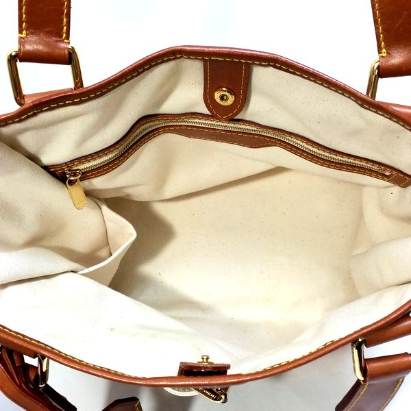 LOUIS VUITTON/ルイヴィトン ハンドトートバッグ サック・レイユール PM M53686 モノグラム・ティセ 中身または上からの写真