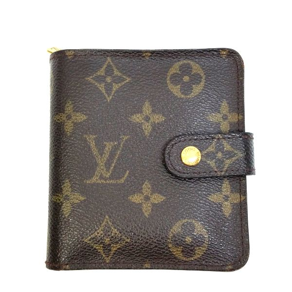 LOUIS VUITTON/ルイヴィトン 2つ折り 財布 コンパクト ジップ M61667 モノグラム 全体の写真