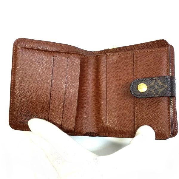 LOUIS VUITTON/ルイヴィトン 2つ折り 財布 コンパクト ジップ M61667 モノグラム 中身または上からの写真