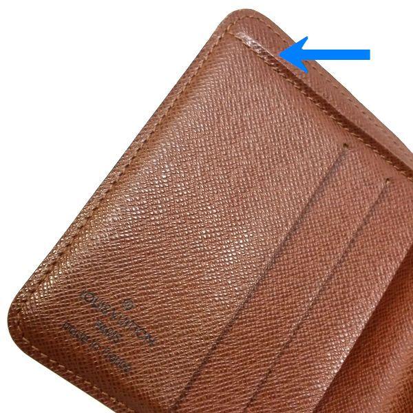 LOUIS VUITTON/ルイヴィトン 2つ折り 財布 コンパクト ジップ M61667 モノグラム シリアルの場所(寄りの画像)