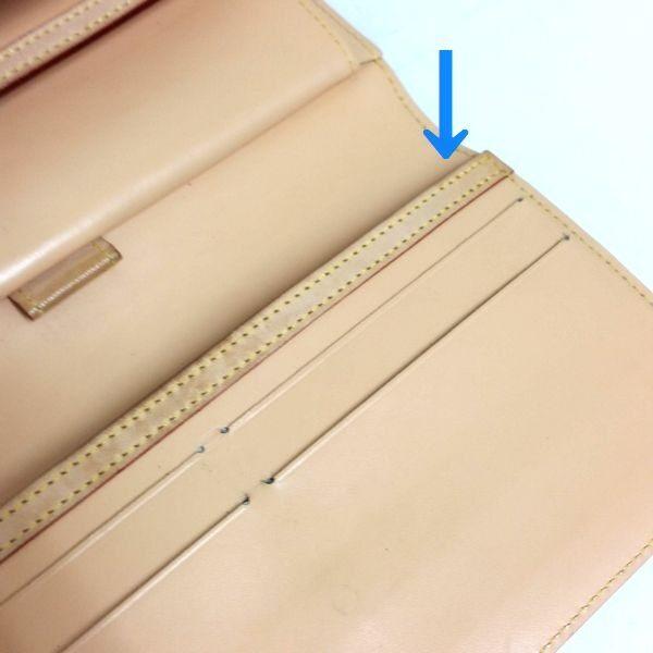 LOUIS VUITTON/ルイヴィトン 3つ折り 財布 ポルト トレゾール・インターナショナル M92659 モノグラム・マルチカラー シリアルの場所(寄りの画像)