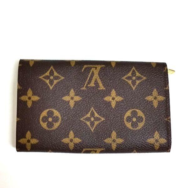 LOUIS VUITTON/ルイヴィトン ホック式 財布 ポルトモネ・ビエ トレゾール M61730 モノグラム 裏側の写真