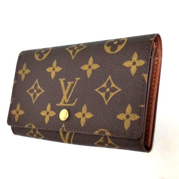 LOUIS VUITTON/ルイヴィトン ホック式 財布 ポルトモネ・ビエ トレゾール M61730 モノグラム 側面の写真
