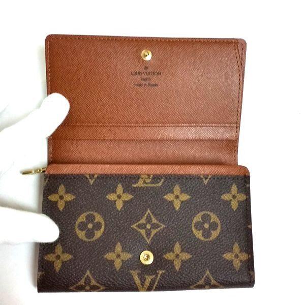 LOUIS VUITTON/ルイヴィトン ホック式 財布 ポルトモネ・ビエ トレゾール M61730 モノグラム 中身または上からの写真