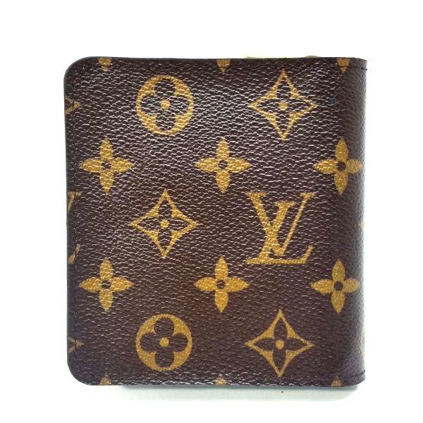 LOUIS VUITTON/ルイヴィトン 2つ折り 財布 コンパクト ジップ M60036 モノグラム・グルーム 裏側の写真