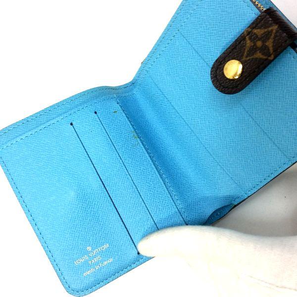 LOUIS VUITTON/ルイヴィトン 2つ折り 財布 コンパクト ジップ M60036 モノグラム・グルーム 中身または上からの写真