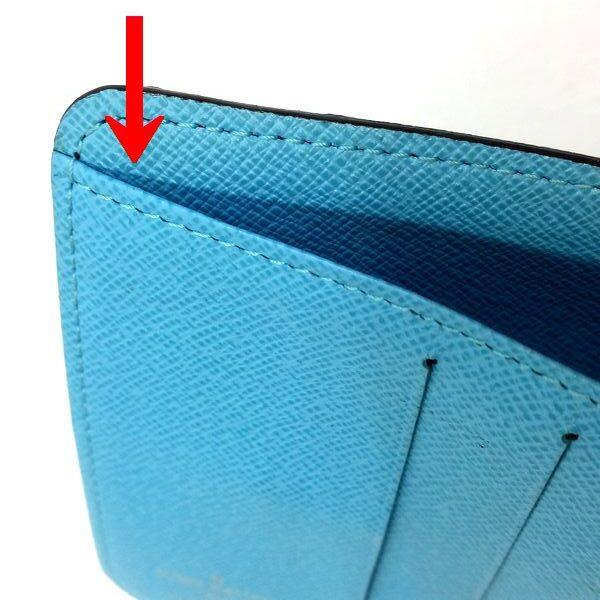 LOUIS VUITTON/ルイヴィトン 2つ折り 財布 コンパクト ジップ M60036 モノグラム・グルーム シリアルの場所(寄りの画像)