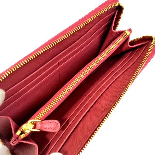 PRADA/プラダ ラウンドファスナー 財布 サフィアーノ リボン アラウンドジップ 1M0506 サフィアーノ 中身または上からの写真