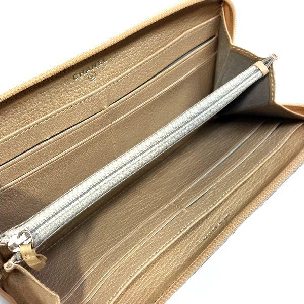CHANEL/シャネル ラウンドファスナー 財布 ジップウォレット 長財布 *** マトラッセ 中身または上からの写真