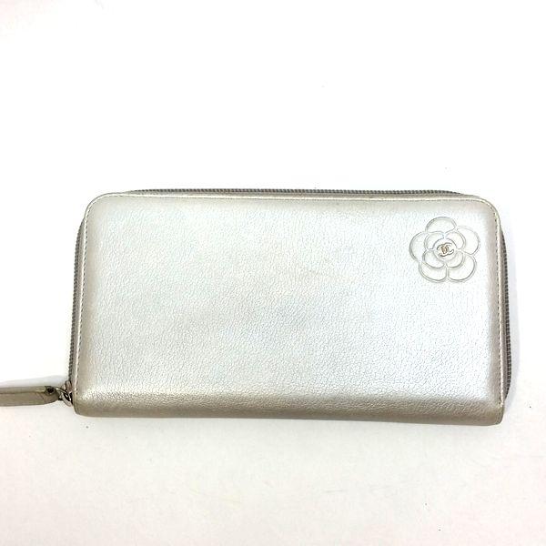 CHANEL/シャネル ラウンドファスナー 財布 ジップウォレット 長財布 *** カメリア 全体の写真