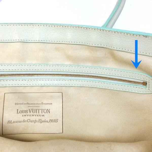 LOUIS VUITTON/ルイヴィトン ショルダートート モノグラム サビア カバ GM M93498 モノグラム サビア シリアルの場所(引きの画像)