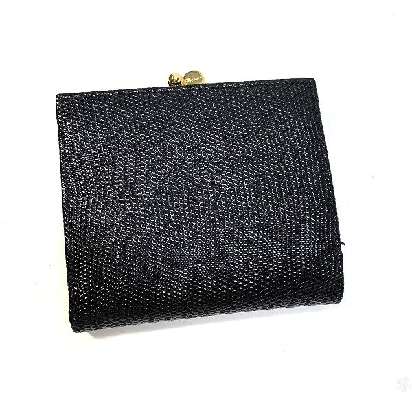 Salvatore Ferragamo/サルヴァトーレフェラガモ 3つ折り 財布 ヴァラ 三つ折ガマ口財布 - ヴァラ 裏側の写真